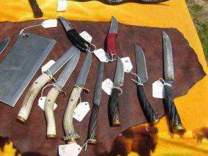 Dennis Rohner's knives at the Poplarville Tractor Show