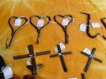 Cross & Heart wall hooks
