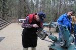 Paul LeBatard grinding a blade