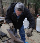 Phil forging a meat fork