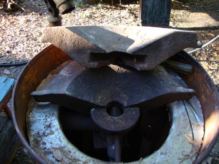 The cast iron pot alone weights 150 lbs.