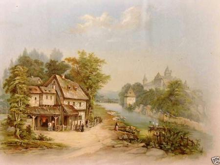 Vintage image of The Village Blacksmith