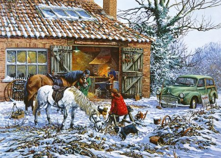 The Village Blacksmith by Gibson