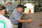 Chuck shows grooving tool tip shapes used for silver inlaying