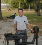 Phil Love starts up his forge
