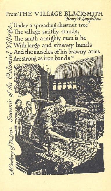 who wrote the village blacksmith