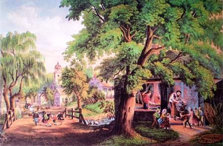 Currier and Ives lithograph, The Village Blacksmith